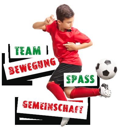 JSG Hannover-West Junge spielt mit Ball